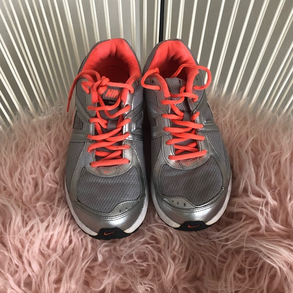 Nike Shoes - Nike Running Shoes Sz  8.5 Gray Orange Coral